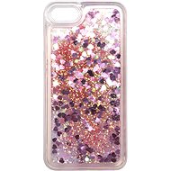 iWill Glitter Liquid Heart Case for Apple iPhone 7/8/SE 2020, Pink - Mobile Case