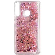 iWill Glitter Liquid Heart Case for Huawei P40 Lite, Pink - Mobile Case