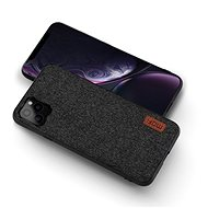 MoFi Fabric Back Cover for iPhone 11 Pro Max Black - Mobile Case