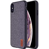 MoFi Fabric Back Cover for iPhone Xs Grey - Mobile Case