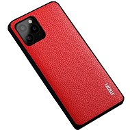 MoFi Litchi PU Leather Case for iPhone 11 Pro Red - Mobile Case