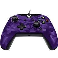 PDP Deluxe Wired Controller - Xbox One - Purple Camo - Gamepad