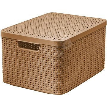 Curver Style Box L V2 With A Lid 03619 213 Light Brown