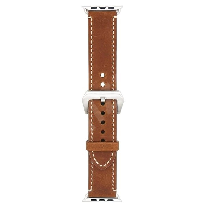 Eternico 42mm / 44mm / 45mm Leather Band 2 Brown for Apple Watch - Watch Band