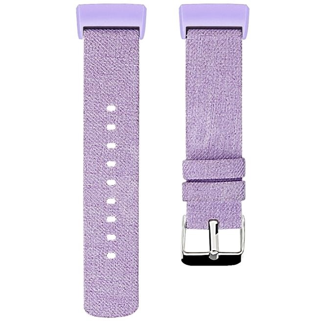 Eternico Fitbit Charge 3 / 4 Canvas Violet (Small) - Watch Band