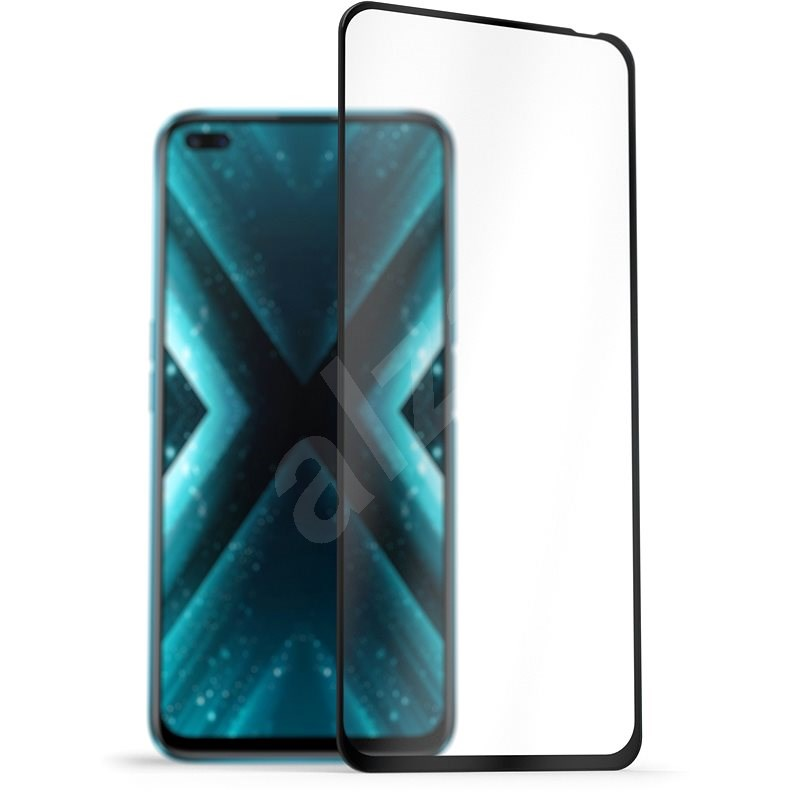AlzaGuard 2.5D FullCover Glass Protector for Realme X3 SuperZoom Black - Glass Protector