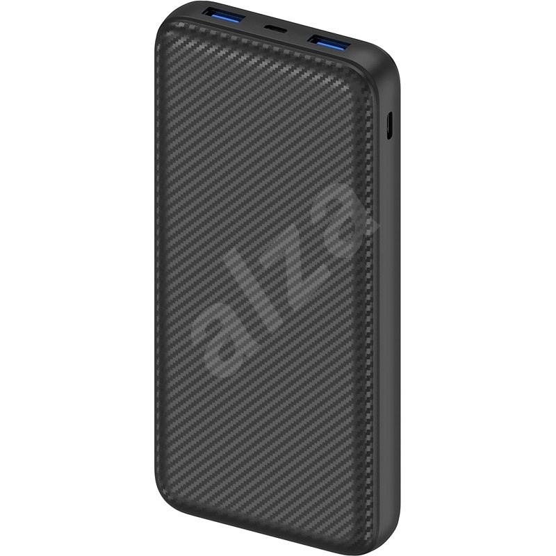 AlzaPower Carbon 20,000mAh Fast Charge + PD3.0 Black - Powerbank