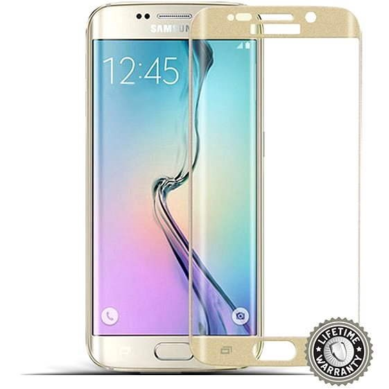 ScreenShield Tempered Glass Samsung Galaxy S6 Edge Plus Gold - Glass protector