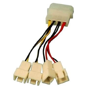 OEM 1x 4pin connector -> 2x 3pin 5V connector and 2x 3pin 12V connector - Adapter