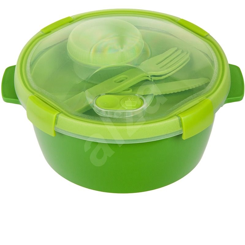 CURVER SMART TO GO 1.6l with Cutlery, Cup, and Tray - Green - Container