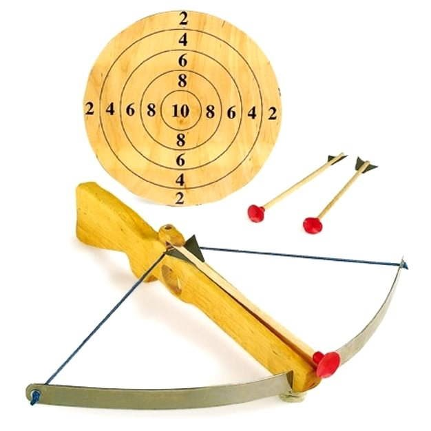 Large Crossbow with Arrows and Target - Children's Weapon