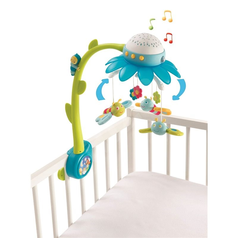 Smoby Cotoons blue-green flower mobile - Cot Toy