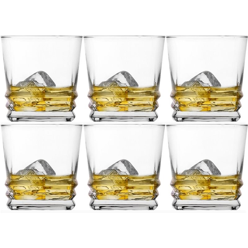 LAV ELEGAN Whiskey Glass 310ml, Clear 6 pcs - Glass Set