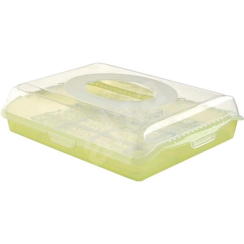 Oct Keeeper Box with a lid, green - Container