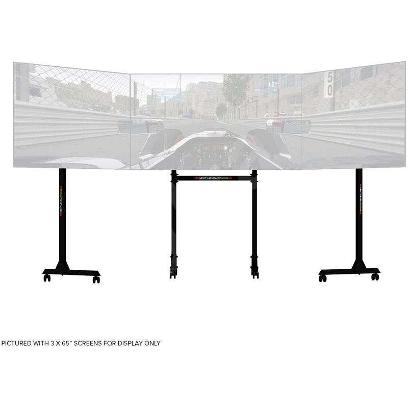 Next Level Racing Free Standing Triple Monitor Stand - Gaming Accessory
