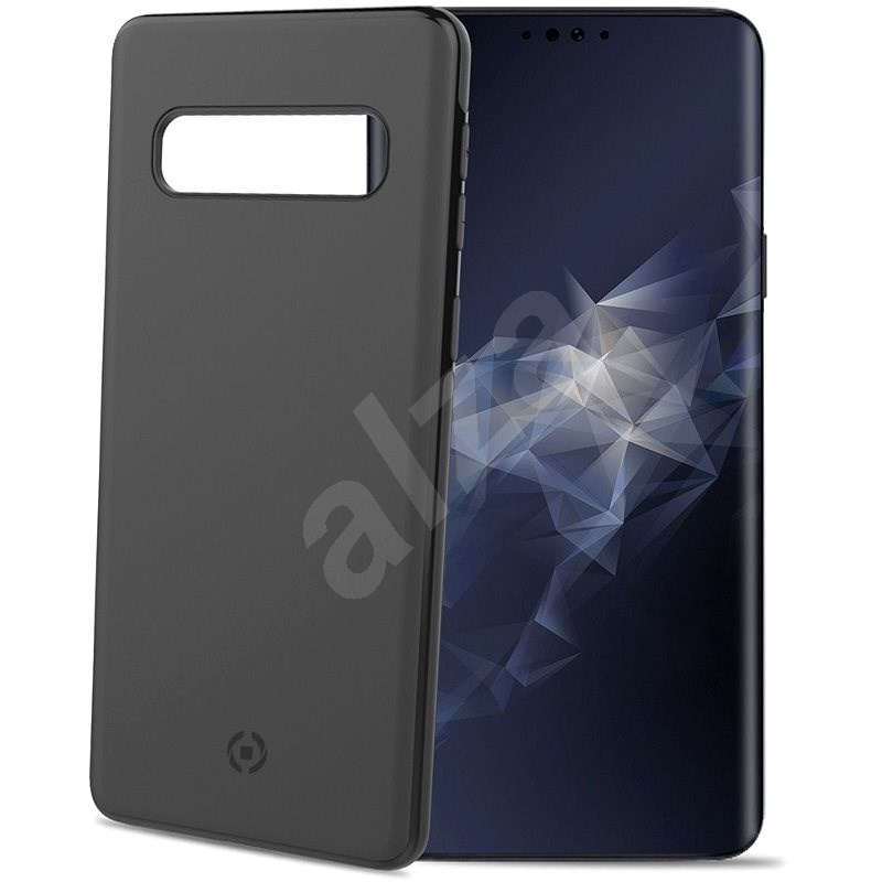 CELLY Ghostskin for Samsung Galaxy S10 compatible with GHOST holders black - Mobile Case