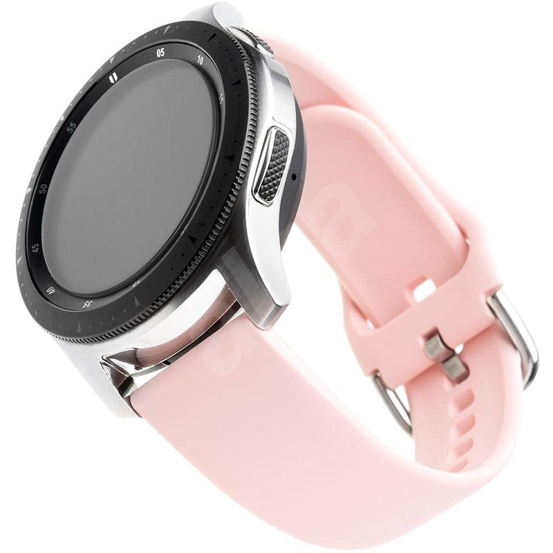 FIXED Silicone Strap Universal for Smartwatch with a Width of 20mm Pink - Watch band