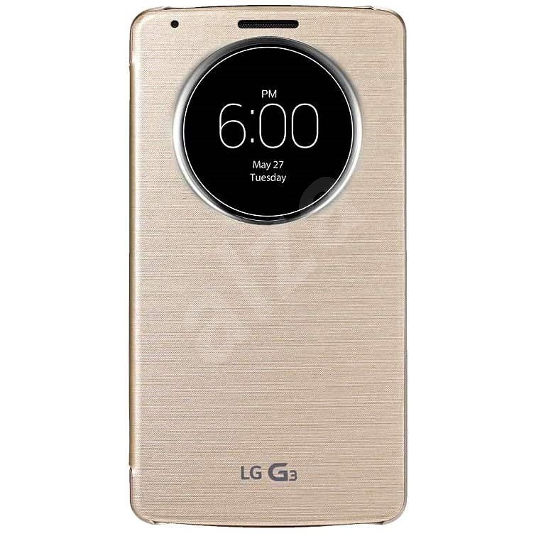 LG Quick Circle Case Gold CCF-345G for LG G3 - Mobile Phone Case