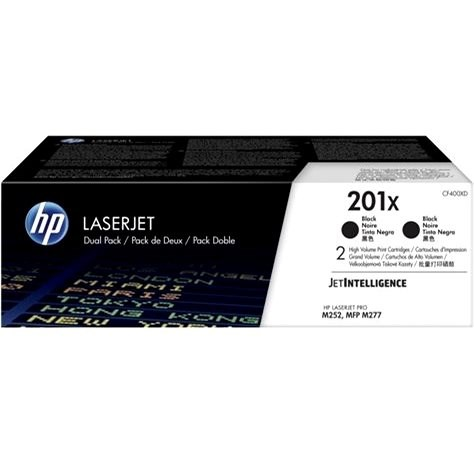 HP CF400XD No. 201X 2-Pack Black - Toner