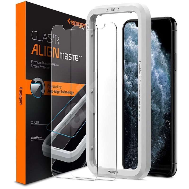 Spigen Align Glas.tR 2 Pack for iPhone 11 Pro/XS/X - Glass Protector