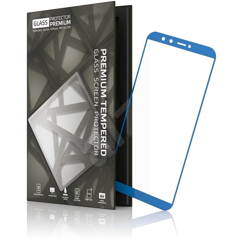Tempered Glass Protector 0.3mm for Honor 9 Lite Blue Frame - Glass protector