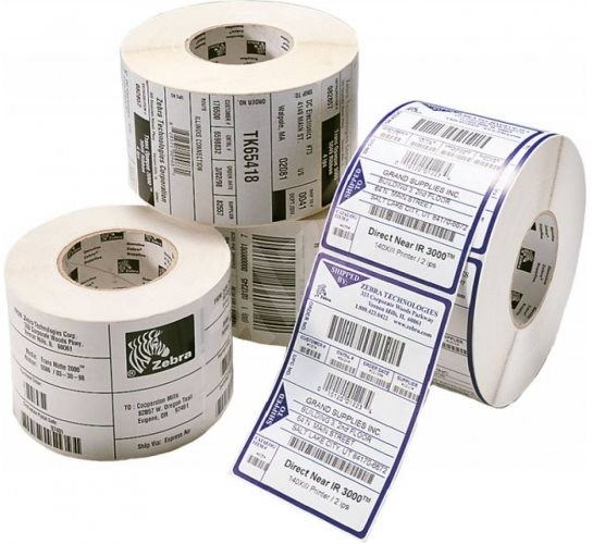 Zebra/Motorola adhesive labels for thermal printing 32mm x 25mm, 2580 labels in roll - Paper Labels