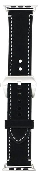 Eternico Apple Watch 42mm Leather Band 1 Black - Watch band