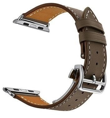 Eternico 42mm/44mm Leather Strap for Apple Watch, Dark Brown - Watch band