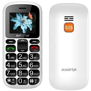 Aligator A321 Senior White + Desk Charger - Mobile Phone