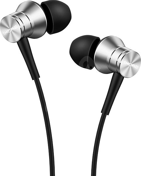 1MORE Piston Fit In-Ear Headphones Silver - Headphones with Mic