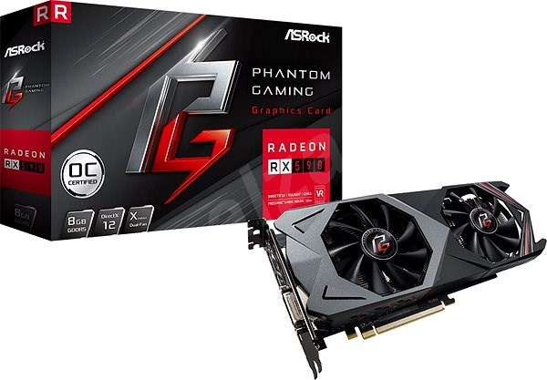 ASROCK Phantom Gaming X Radeon RX 590 8G OC - Graphics Card