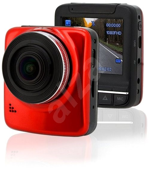 "COMPASS Full HD 2.4"" Camera, Red GPS - Car video recorder"