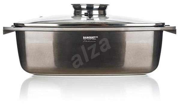 BANQUET METALLIC PLATINUM Pan 40x22x16.5cm - Roasting Pan