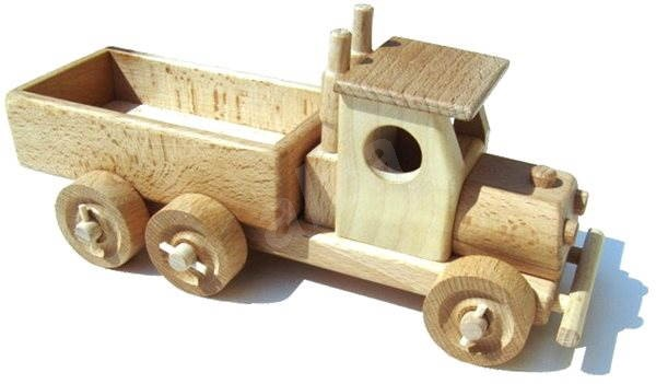 Wooden truck with a flatbed  - Wooden Model