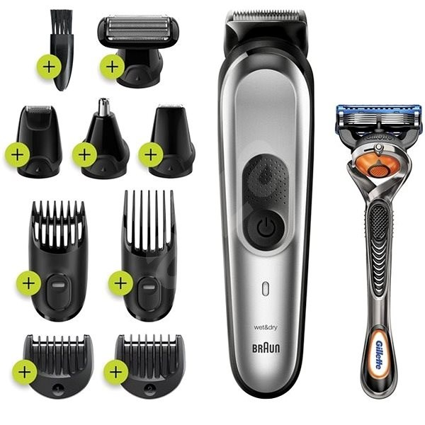 Braun MGK 7220 Metallic Silver - Hair and beard trimmer