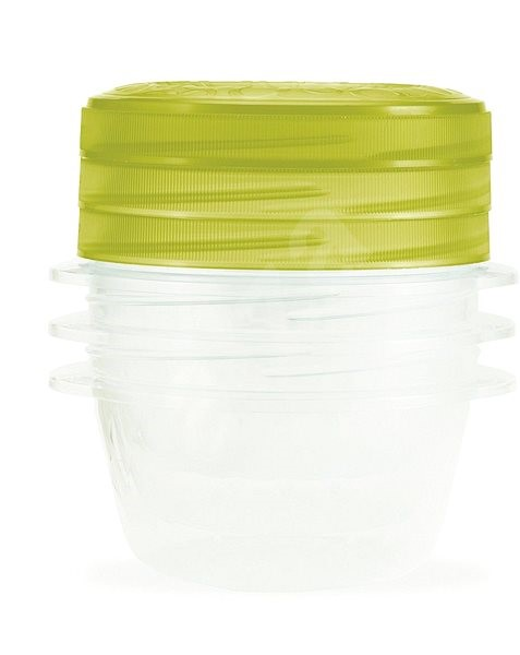 CURVER TAKE AWAY TWIST set 3x 0.5l containers, green lid - Food Container Set