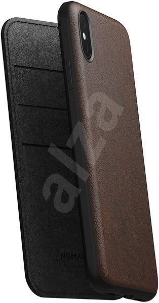 brand new eb63f a3d46 Nomad Folio Leather Case Brown iPhone XS Max