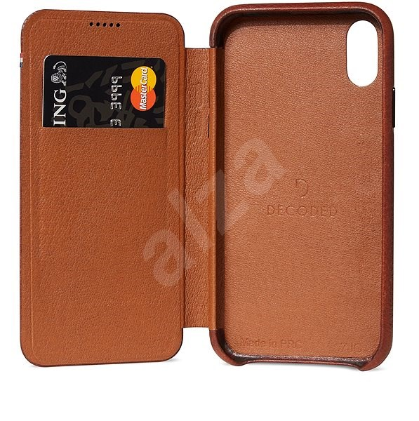 sale retailer f5393 7f7ab Decoded Leather Slim Wallet Brown iPhone XR