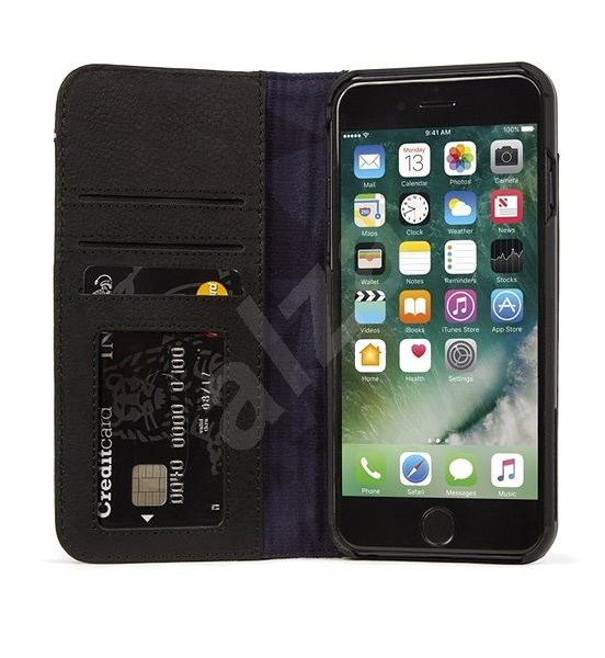 huge discount 8b443 c8488 Decoded Leather 2-in1 Wallet Case Black for iPhone 8 Plus/7 Plus/6s Plus