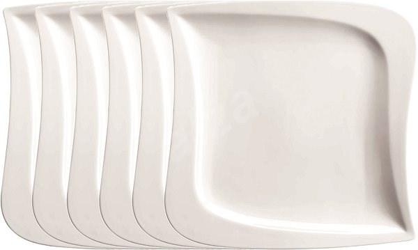 DOMESTIC Shallow Plate 25.5cm 6pcs LA MUSICA - Set of plates