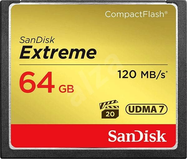 Sandisk Extreme Compact Flash 64GB - Memory Card