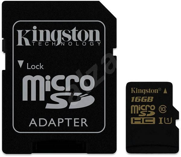 Kingston Micro SDHC 16GB Class 10 UHS-I + SD Adapter - Memory Card