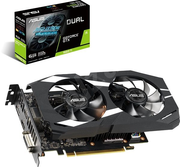 ASUS DUAL GeForce GTX1660TI O6G - Graphics Card