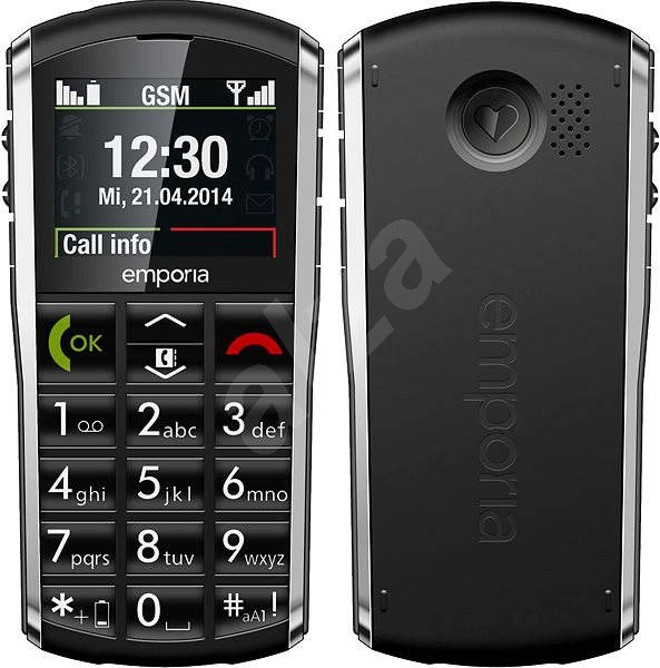 Emporia PURE Grey Black - Mobile phone