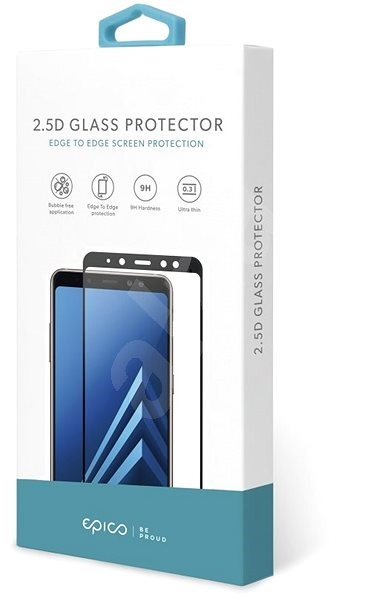 Epico Glass 2.5D for Huawei Y7 (2019) - black - Glass protector