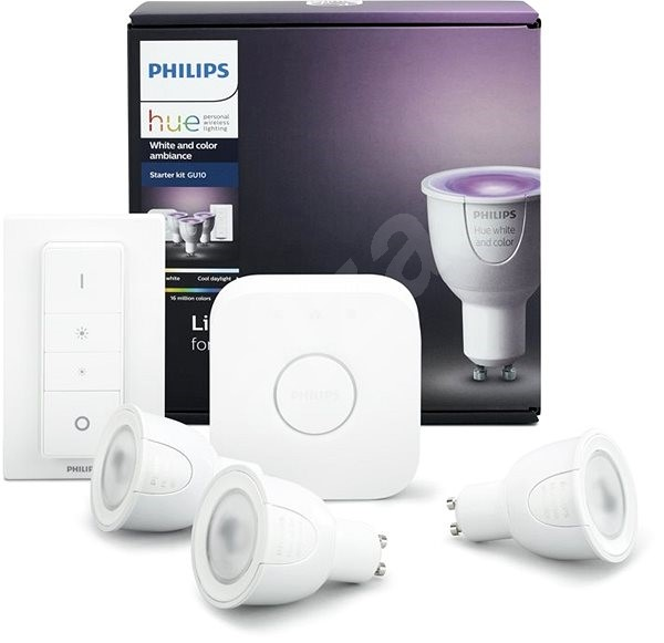Philips Hue White and Color ambiance 6 5W GU10 starter kit
