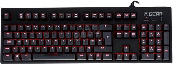 Fnatic Gear Rush Red (UK) - Gaming keyboard