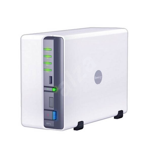 Synology All-in-1 NAS server DS211j 2000GB (2x1000GB) - Data Storage Device