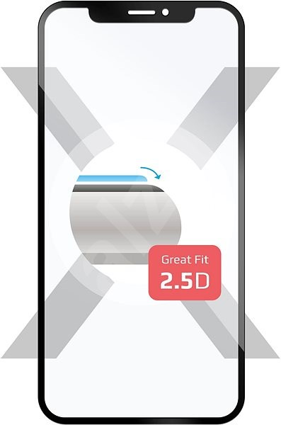 FIXED for Honor View 10 black - Glass protector