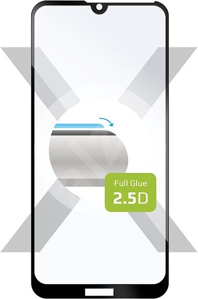 FIXED Full-Cover for Honor 8A/Huawei Y6 (2019) Full Glue  Black - Glass protector